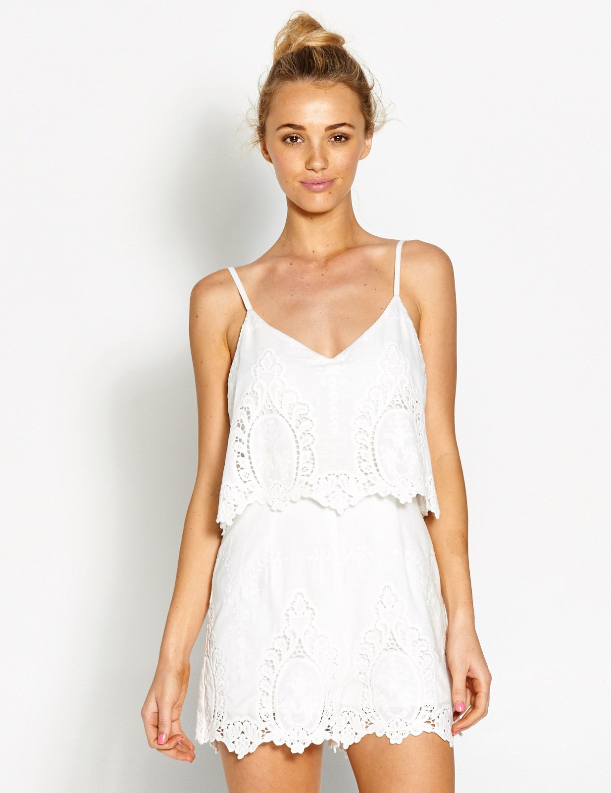 2c5c540c2303 Image for Lace Embroidered Playsuit from Dotti