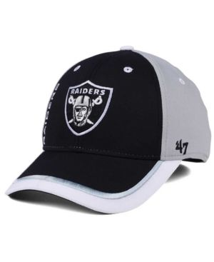 22157e90a56 47 Brand Oakland Raiders Crash Line Contender Flex Cap - Gray L XL ...