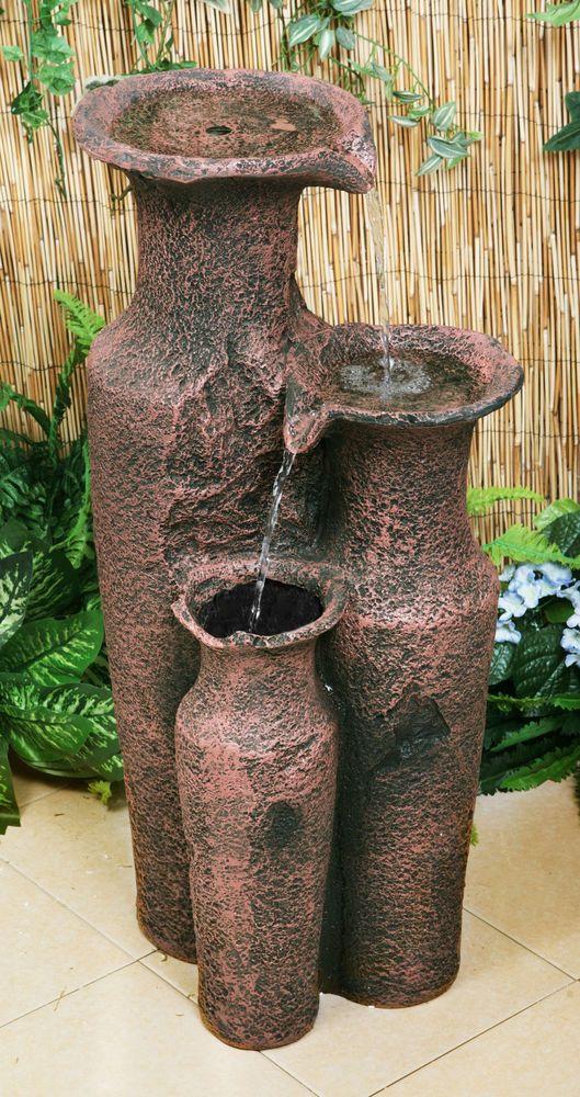 Fuente Agua Jarrones Sama Jardin Cascada Terraza Decoracion Exterior - Fuentes-agua-jardin