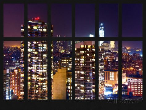 New York Apartments View At Night