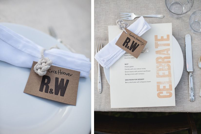 Cute menus/ wedding photographer
