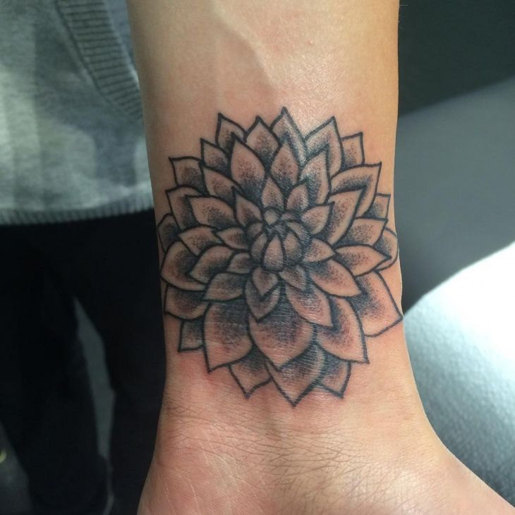 black and grey dahlia tattoo | tattoo | pinterest