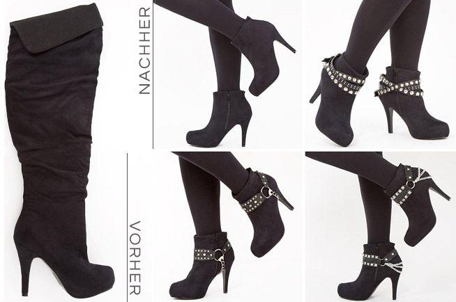 ef396deffafcd7 DIY Tutorial  Aus Overknees werden Stiefeletten - Fashion Blog  DIY -  Outfits