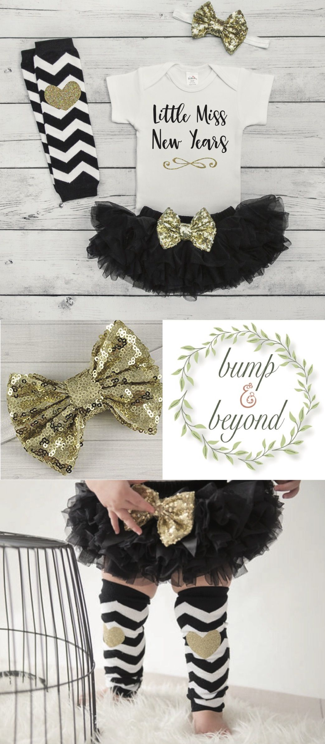 2a53960a27383 My First New Years Outfit Baby Girl New Year Outfit Baby Girl First New  Year's Outfit Infant 1st New Year Black and Gold Tutu Set