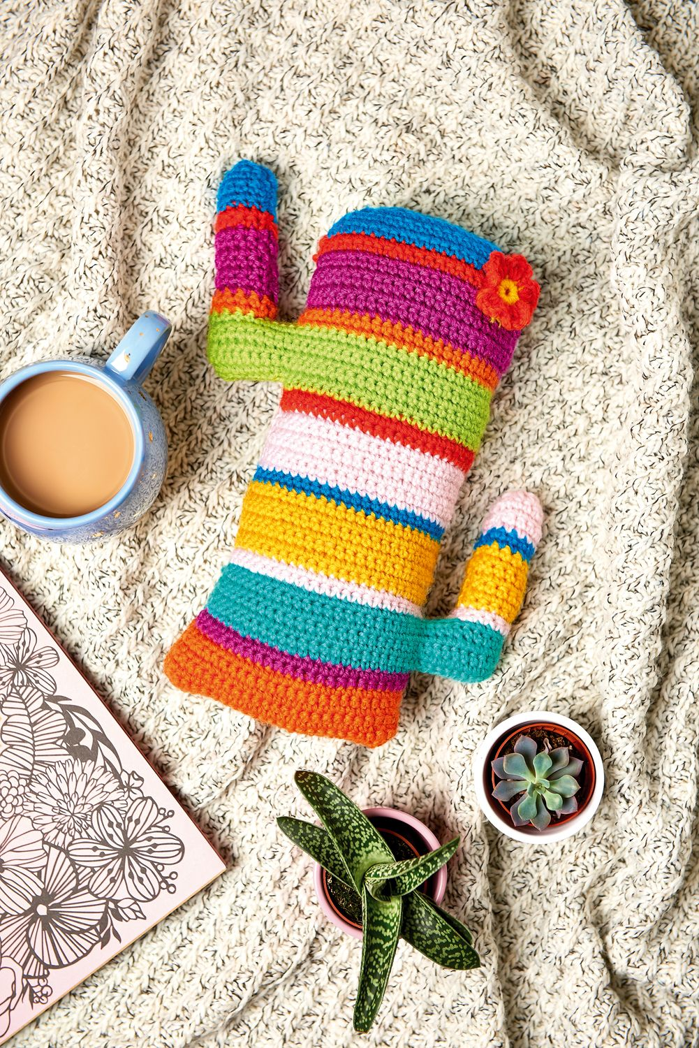 Crochet cactus cushion // Let\'s Get Crafting, issue 100 // Image ...