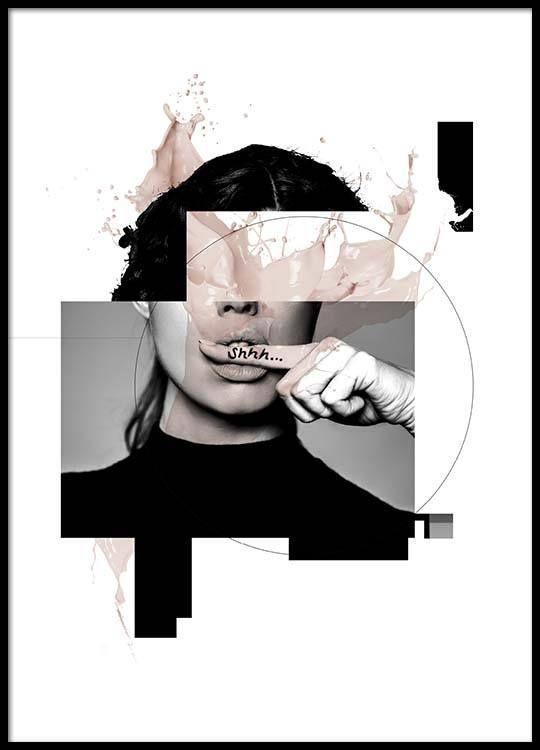 Shhh Poster in der Gruppe Poster / Größen und Formate / 50x70cm bei Desenio AB (3126) #graphicprints