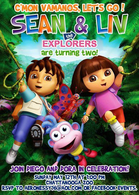Dora and Diego Birthday Party Ideas Birthday party ideas and