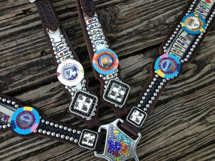 Awesome vegas poker chip set by cowboy couture tack