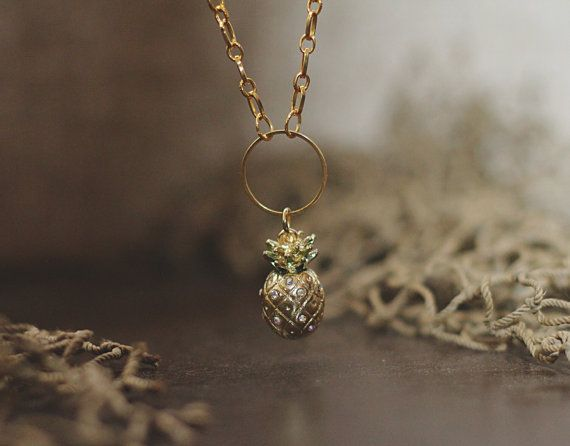 Golden Pineapple by OCEANbySteph on Etsy