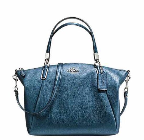 92dbf9d64b51 Small Kelsey Satchel in Pebble Leather - gorgeous turquoise Coach purse