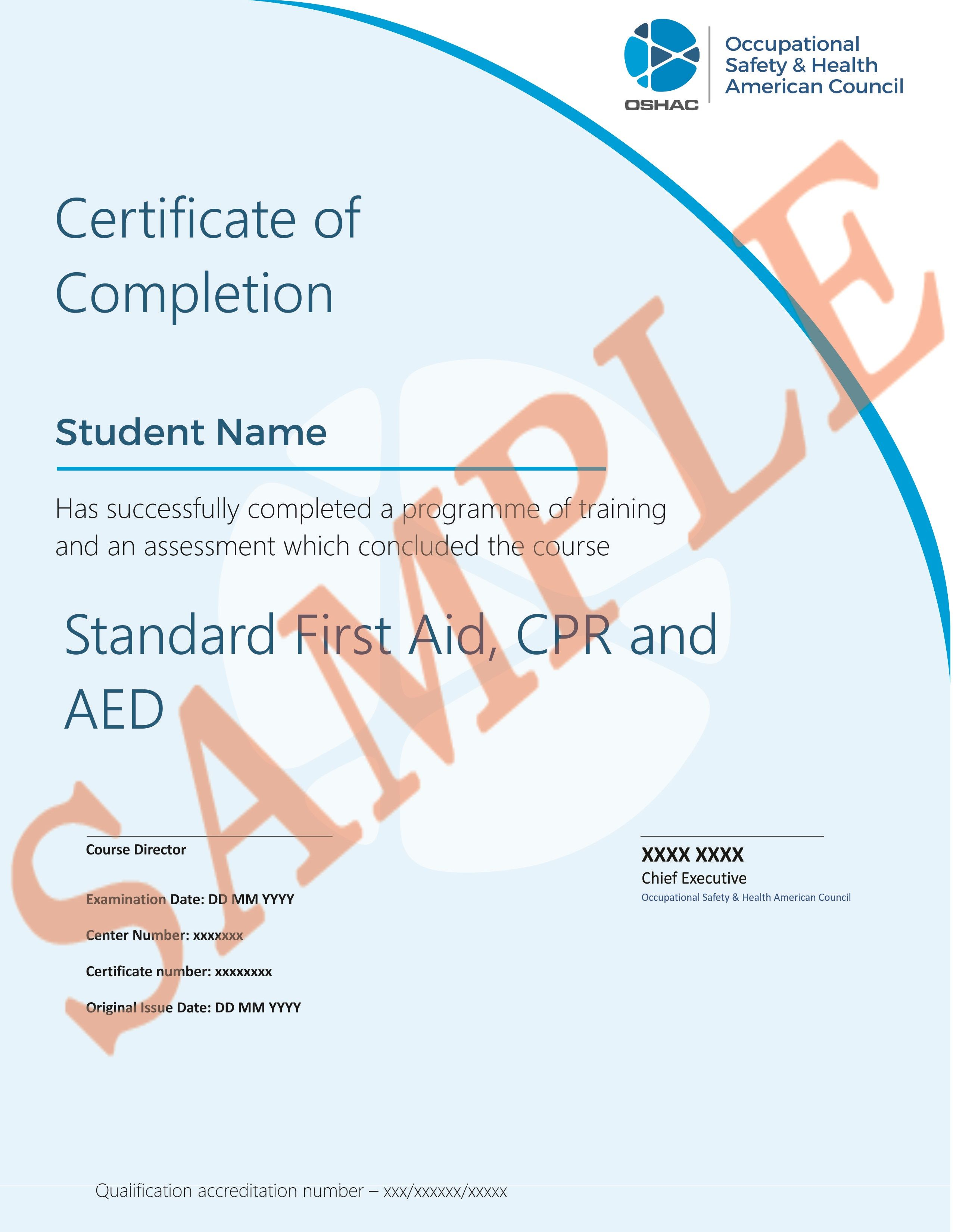 Standard First Aid Cpr Aed Occupational Health And Safety Fire Safety Course Safety Courses