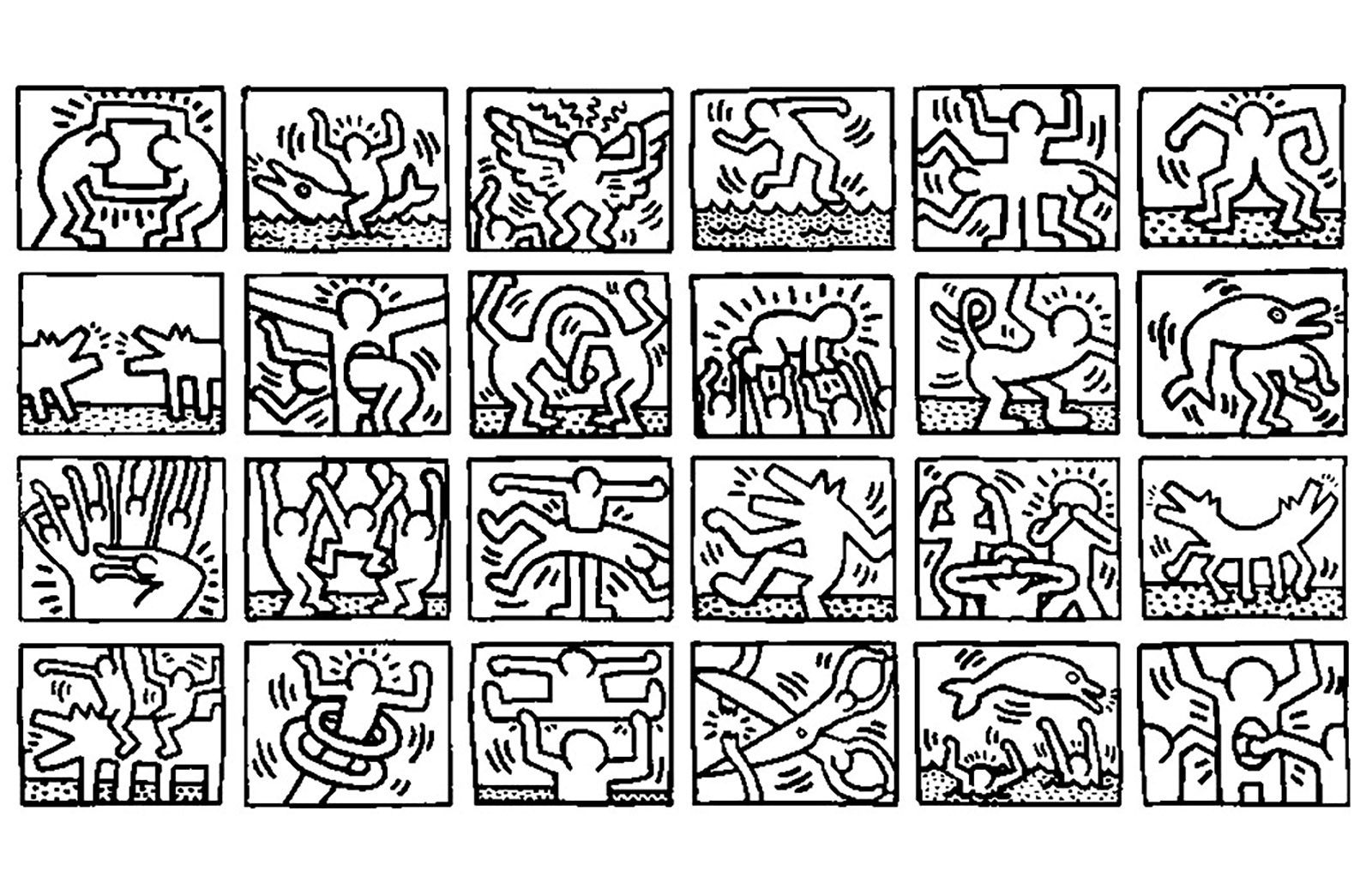 9 Aimable Coloriage Pop Art Gallery Keith Haring Kunst Maken Keith