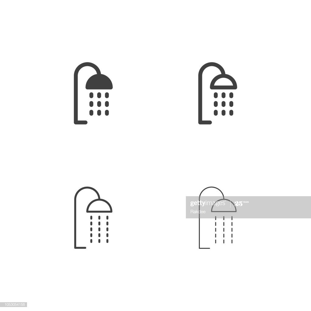 Shower Head Icons Multi Series Vector Eps File Icon Print Designs Inspiration Shower Heads