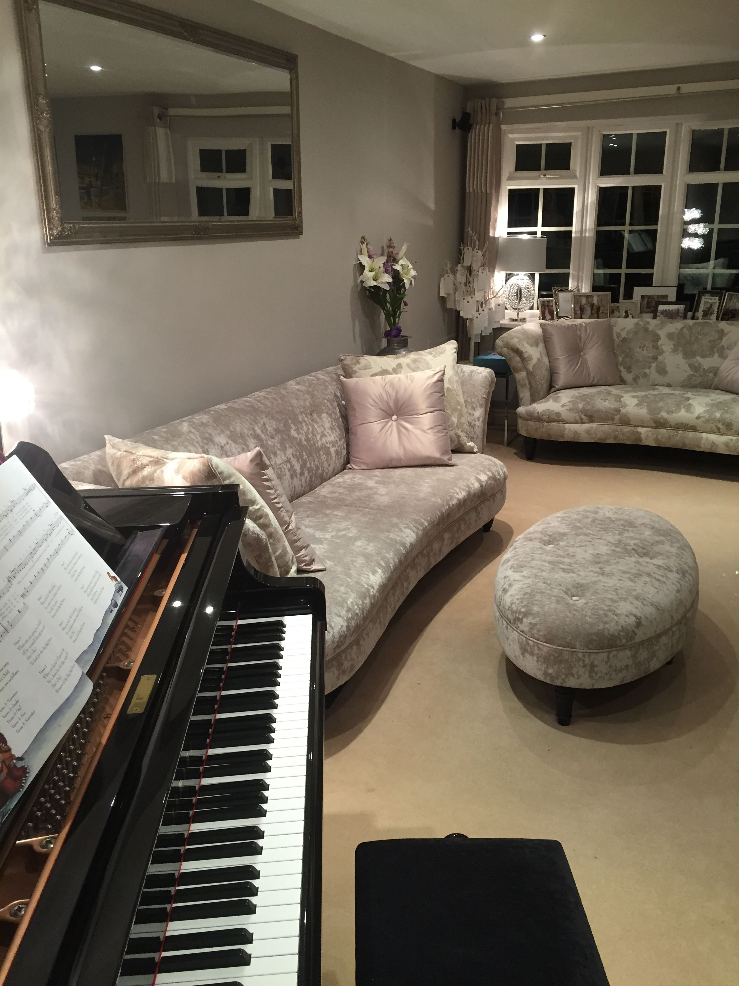 Living Room Lounge Music Room Sitting Room Grey And