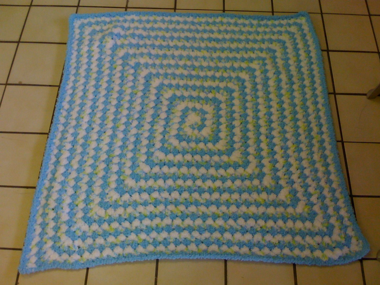 Never Ending Granny Square For A Boy Made From Bernat Pipsqueak Yarn Deliciously Soft Granny Square Crochet Baby Crafty