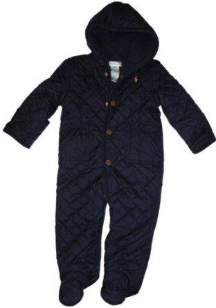 cb687694c Infant s Ralph Lauren Polo One Piece Snow Suit Navy Size 9 Months ...