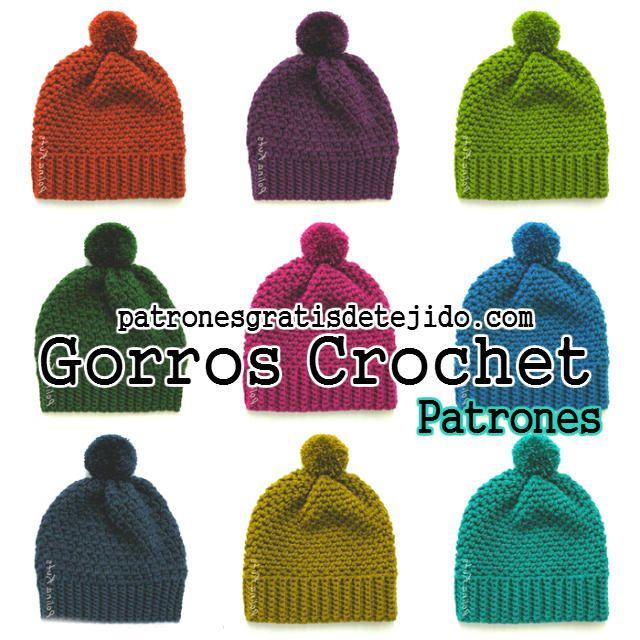 Gorros crochet con patrón | ganchillo, gorros. | Pinterest | Crochet ...