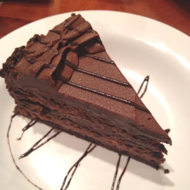 Hooters has the best chocolate mousse cake