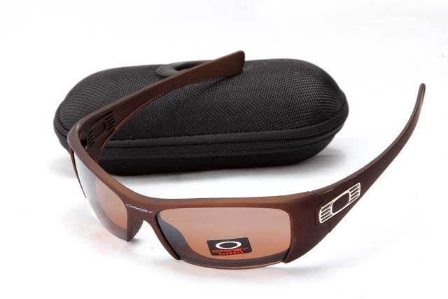 Oakley Hijinx Sunglass Brown Half Frame Grey Lens