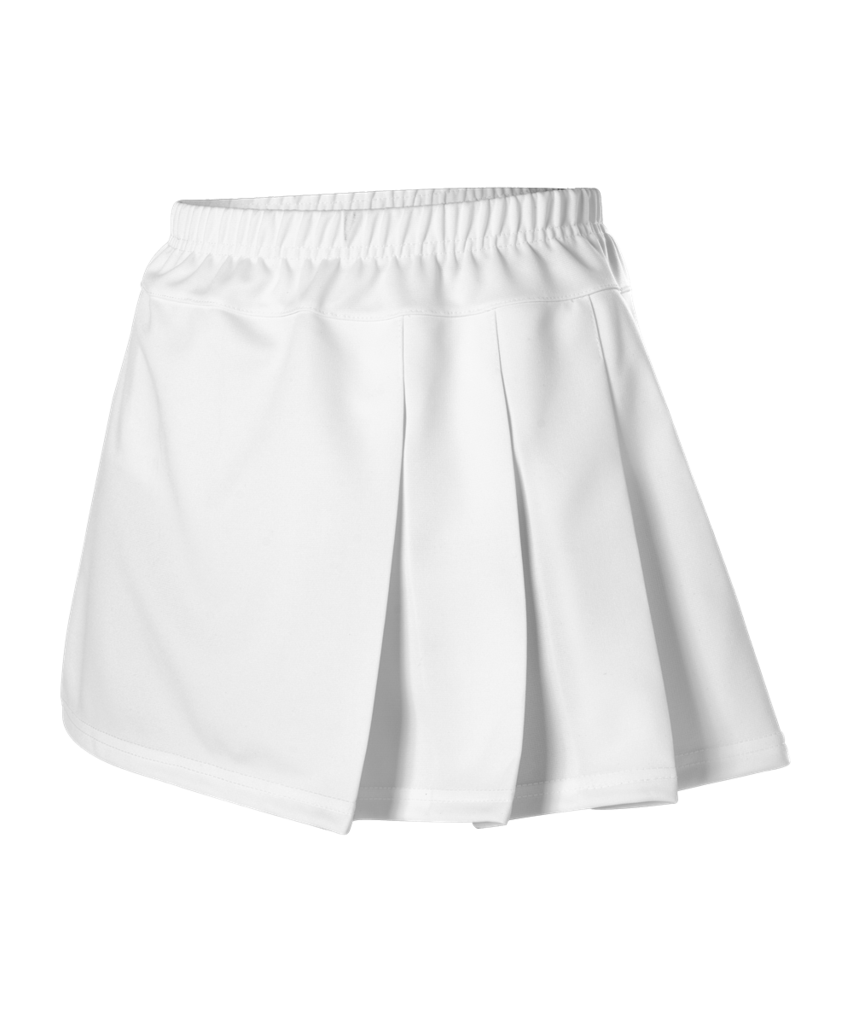 Alleson C200 Women S Cheerleading Three Pleat Skirt White Cheerleading Hit White Tennis Skirt Tennis Skirt White Skirts