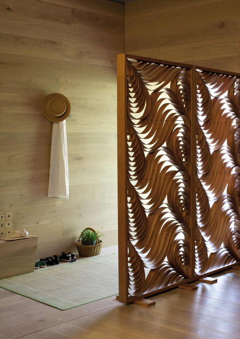 LZF Lamps Paisley Screen Hall Brisbane house Wood touched by