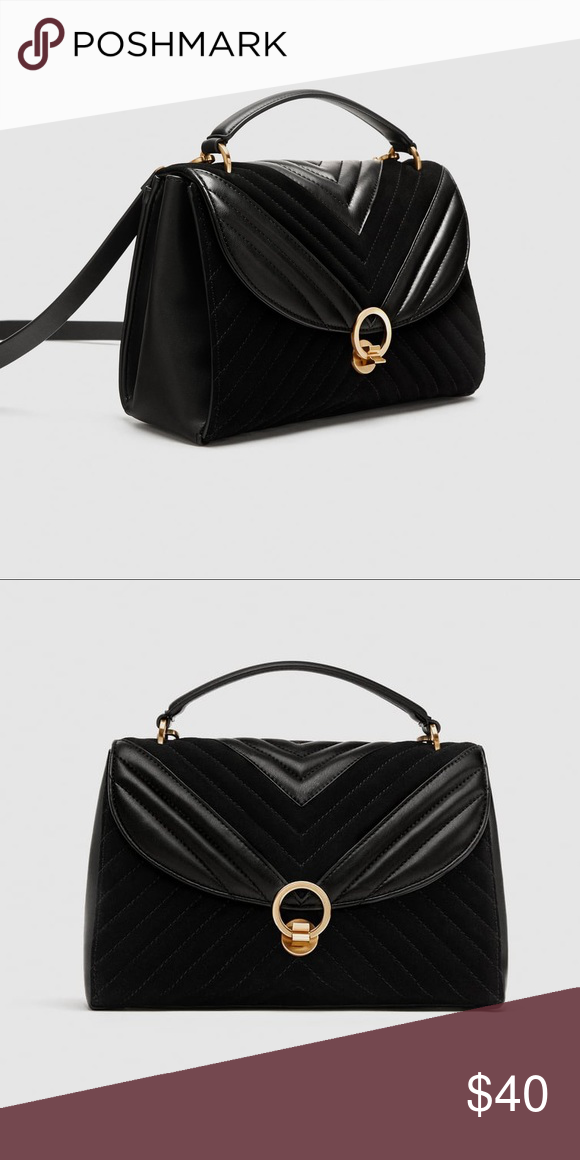 Zara Crossbody Quilted Real Leather Black Purse Crossbody Zara Bags  Crossbody Bags Mode, Sacs Zara 048fecc1a8