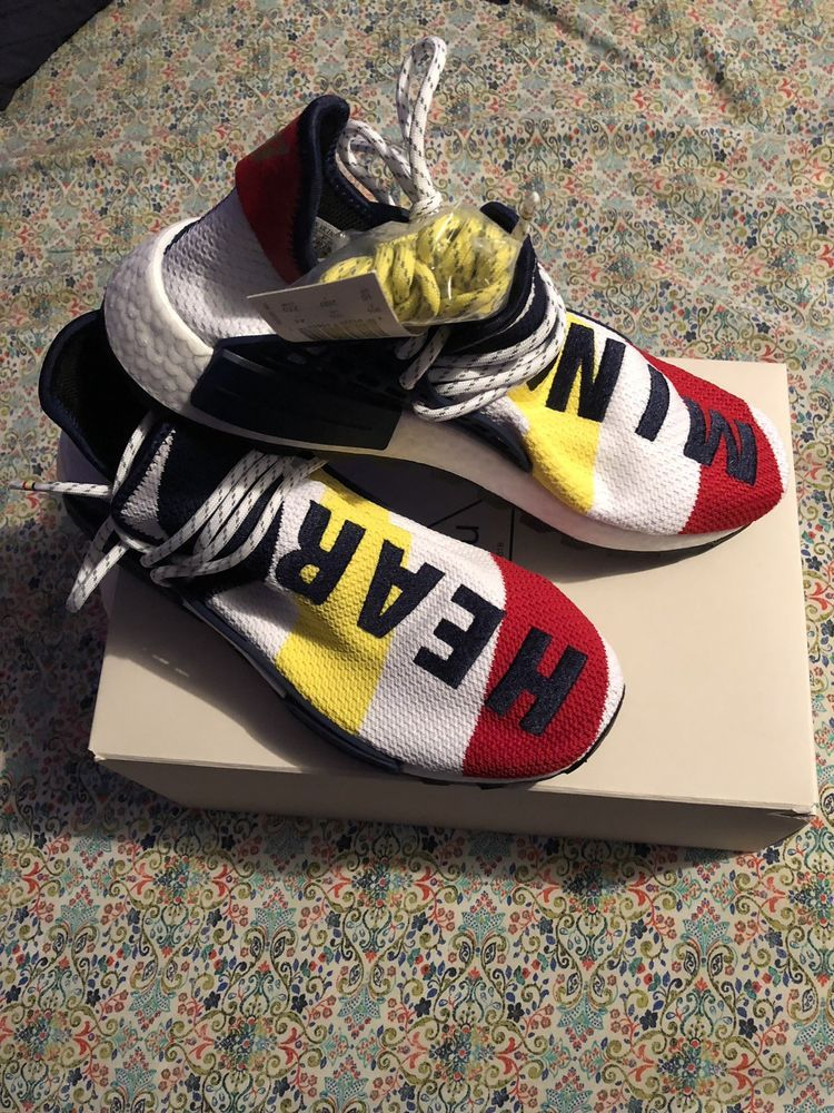 2439c8120 pharrell adidas nmd human race yellow size 10 WORN  fashion  clothing   shoes  accessories  mensshoes  athleticshoes (ebay link)