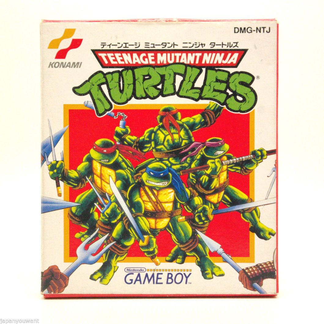 Teenage Mutant Ninja Turtles TMNT Boxed Nintendo Game Boy GB Japan ...