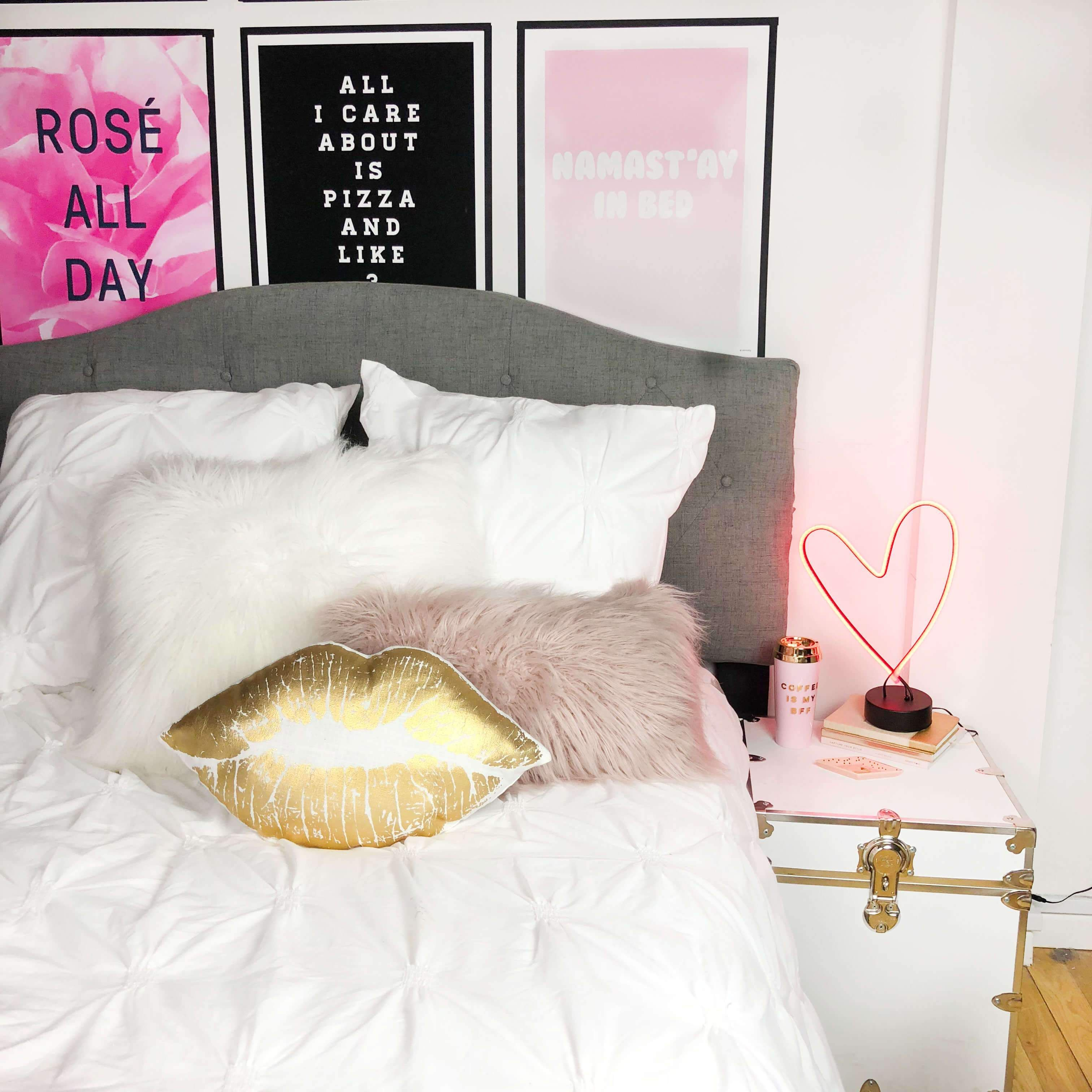 Light Up Your Small E With This Red Neon Led For Some Retro Vibes Perfect Nightstand Or Side Table It Will Give Room A