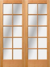80 1 3 4 Exterior Fir 10 Light Double Door In 2020 Double Doors French Doors Patio Doors
