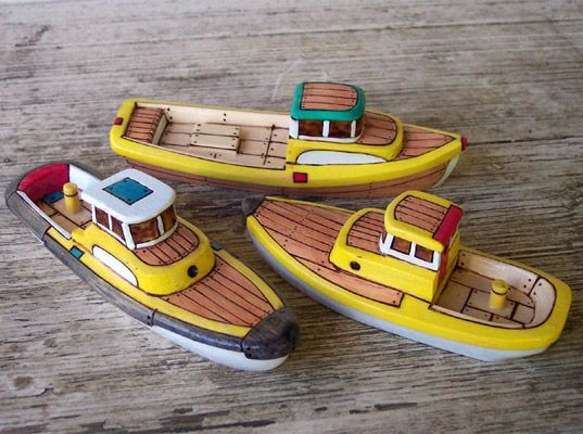 Hand-Carved Wooden Toy Boats by Friendly Fairies Let Kids Sail Into ...