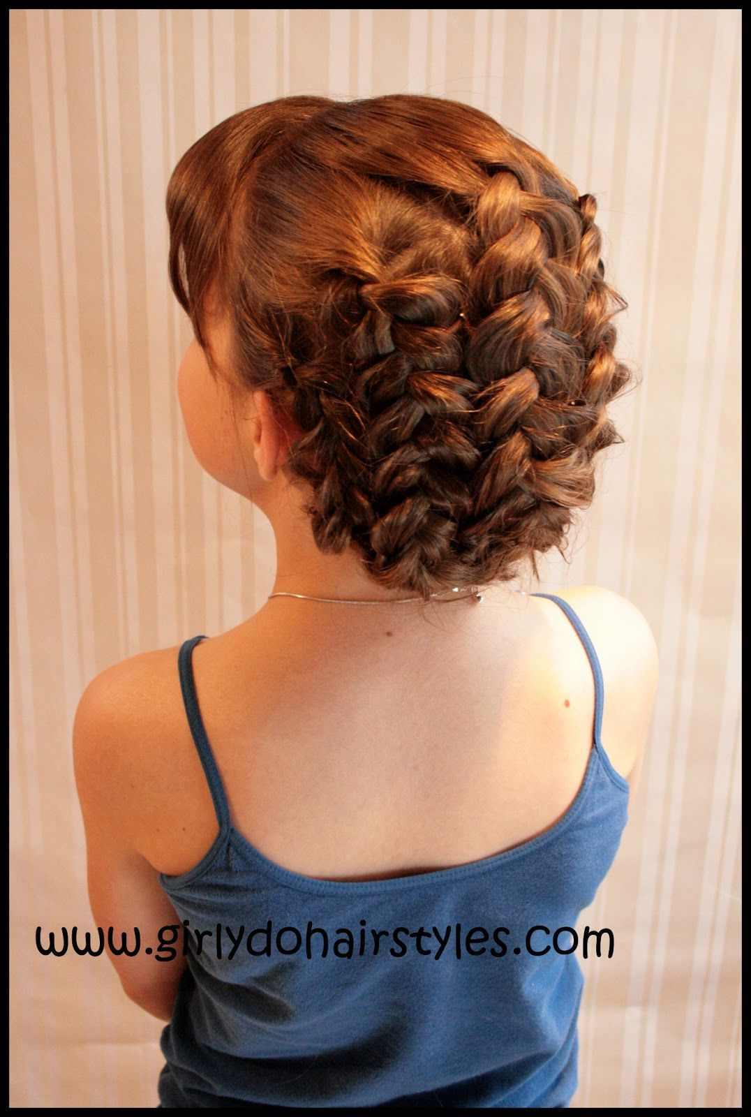 Braided up hairstyle so easy to recreate tutorial prom