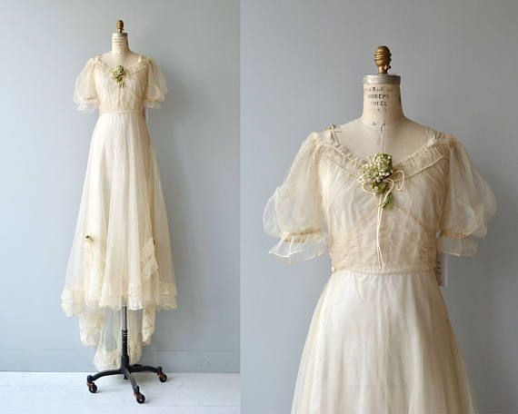 Cantabile wedding gown   vintage 1930s wedding dress   30s wedding ...