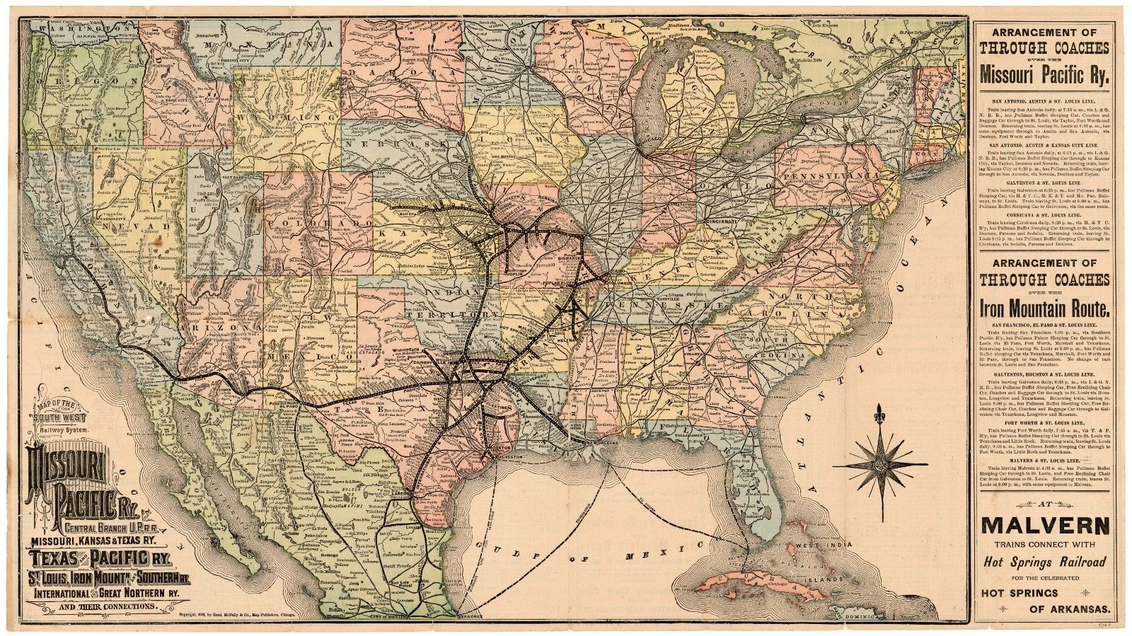 Map Of The Southwest Railway System