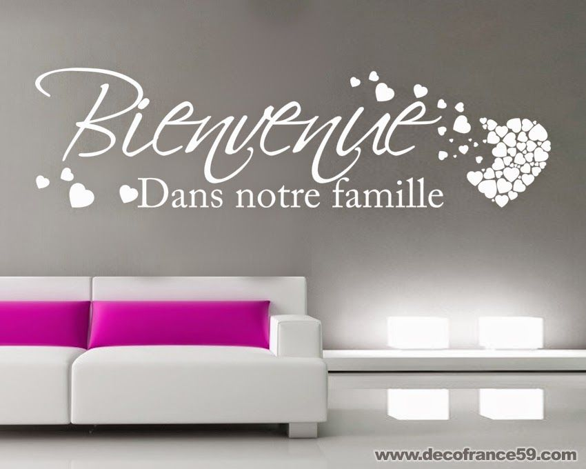 Stickers citation famille recherche google photo for Autocollant mural texte
