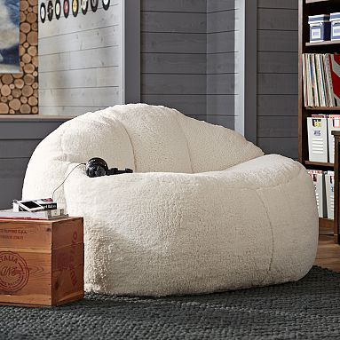 Elegant Sherpa Cloud Couch...i Need Something Like This For The Little Nook In