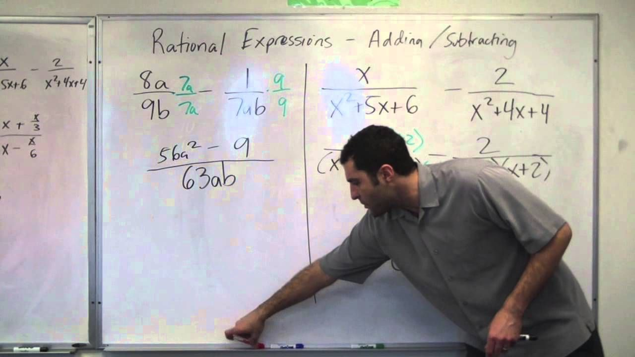 Algebra Rational Expressions Adding And Subtracting Hd Rational Expressions Algebraic Expressions Teaching Algebra Addition of rational expressions