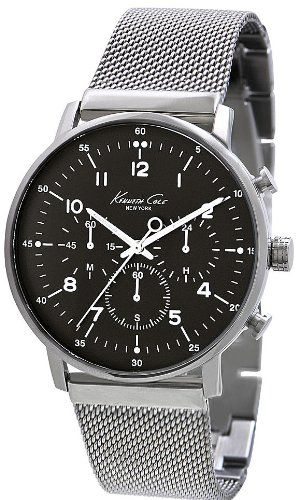 Kenneth Cole New York Men's KC9206 Dress Sport Black Dial Chronograph Mesh Watch - http://www.specialdaysgift.com/kenneth-cole-new-york-mens-kc9206-dress-sport-black-dial-chronograph-mesh-watch/