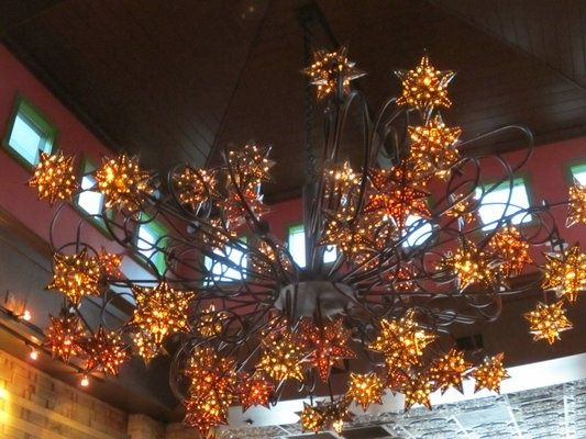 Mexican Tin Star Chandelier If I Could Have This Would Hy