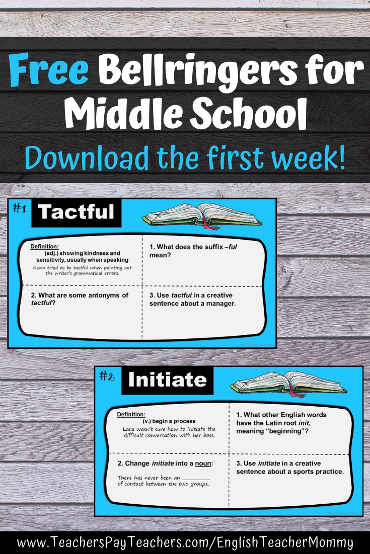 Free Digital Vocabulary Warm Ups For Middle School In 2020 Middle School English Middle School Vocabulary Practice