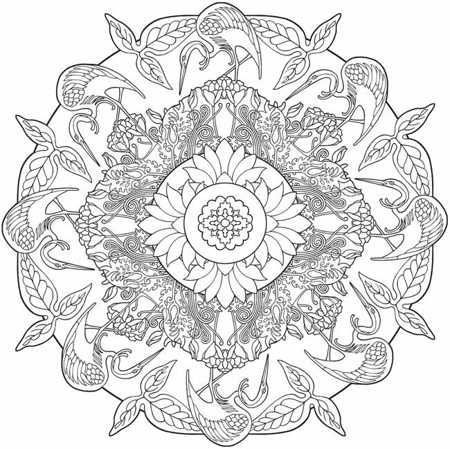 Nature Mandalas Coloring pages. @doverpublications.com | Art Therapy ...