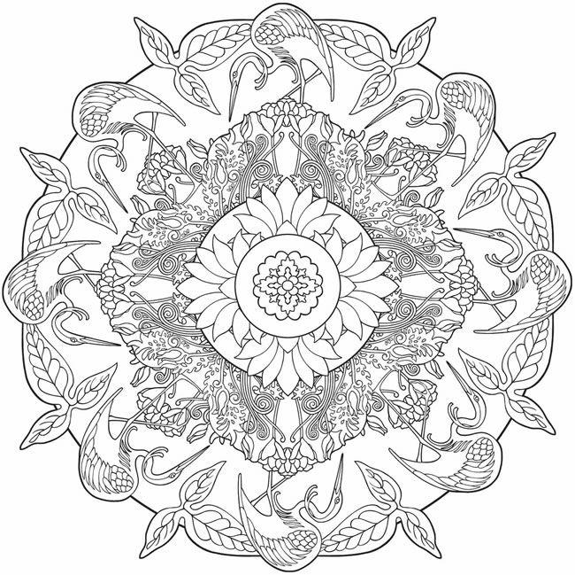 Nature Mandalas Coloring pages. @doverpublications.com | Art ...