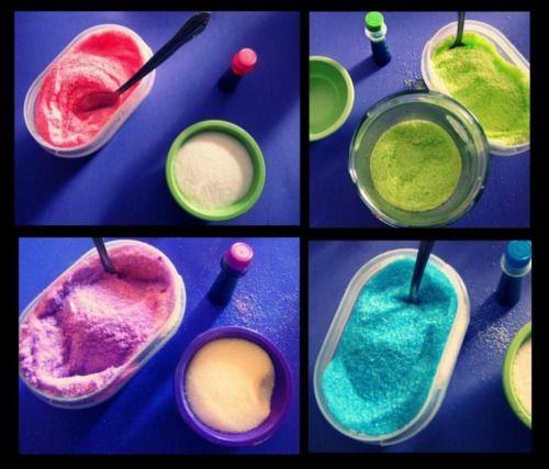 3 drops of food coloring + 1 cup stevia baking sugar = Sugar ...