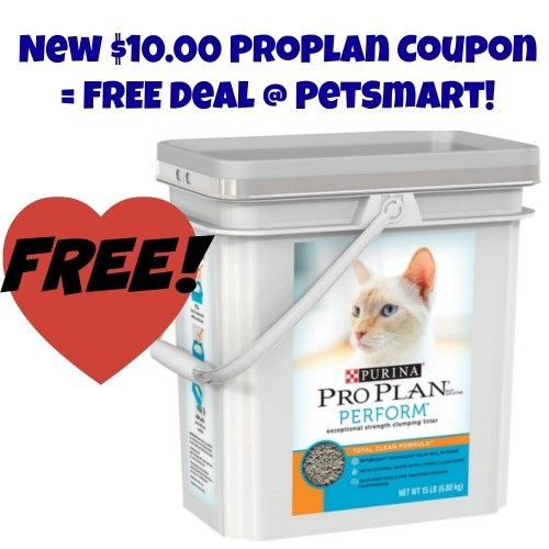10 Pro Plan Coupon = FREE Cat Litter PetSmart! Pet