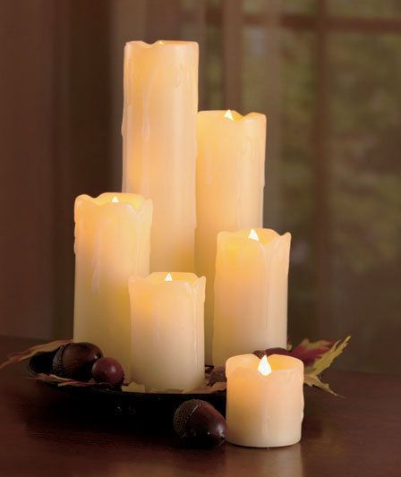 6 Flickering Flameless Led Pillar Candles Realistic Home Decor Accent Light Safe Led Candles Led Candle Lights Candles