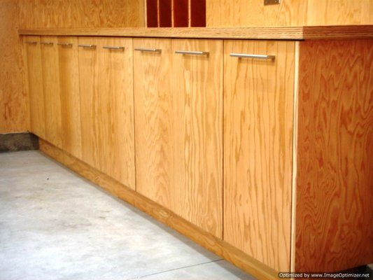 Custom Garage Cabinets Built Using Marine Plywood For A Beverly Hills Resident Plywood Kitchen Custom Garage Cabinets Plywood Cabinets