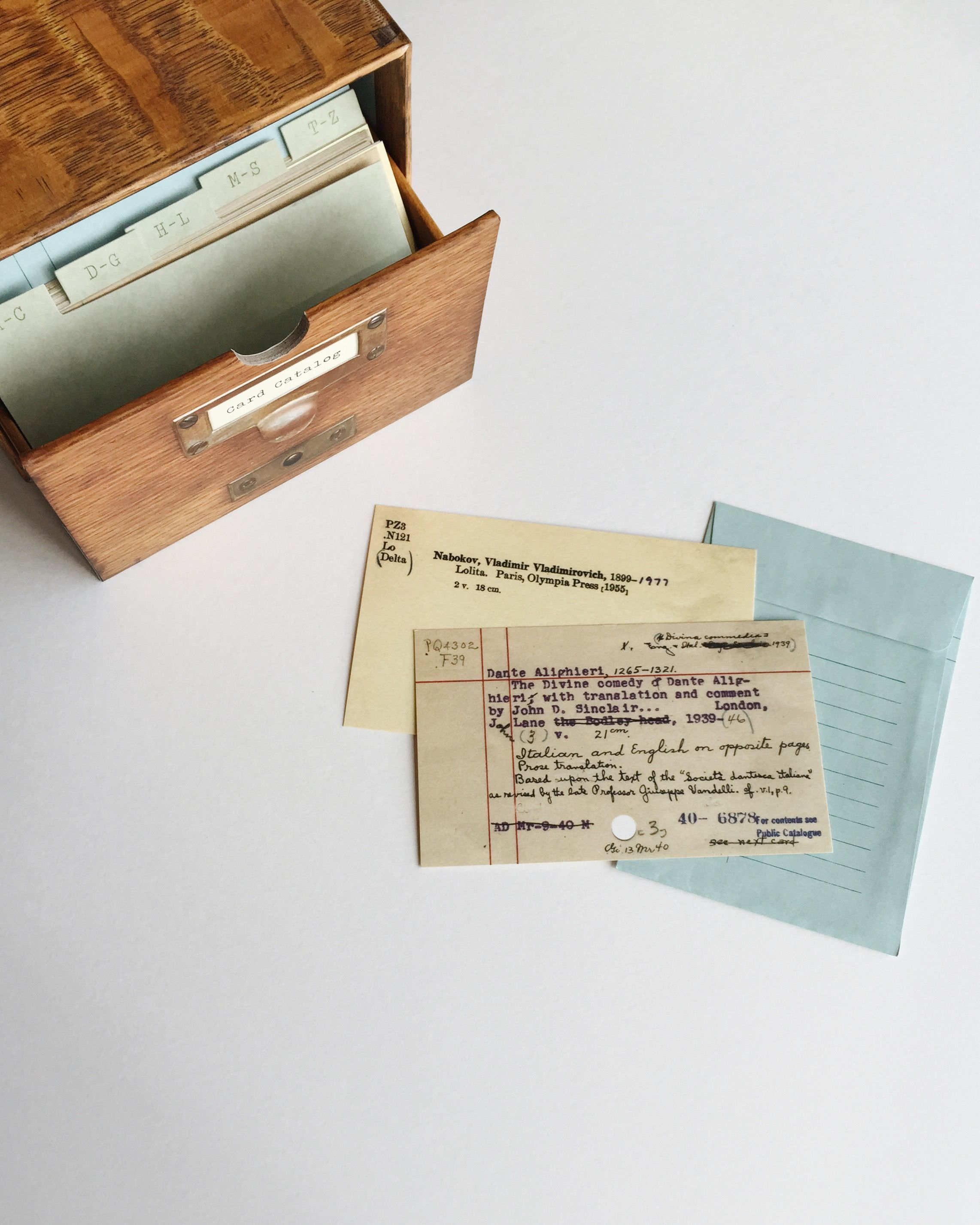 Lovely Great Gift Idea For The Book Lover   A Card Catalog With Notecards From The  Library