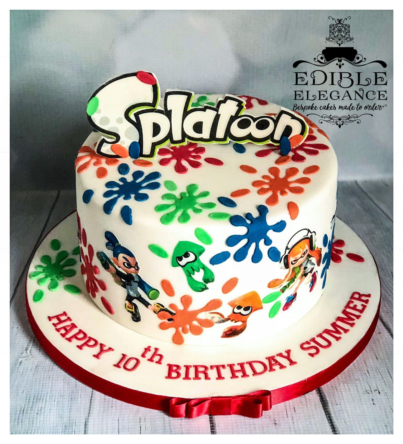 Splatoon Cake In 2019 Cake Birthday Party Decorations