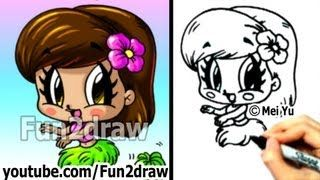 Youtube Fun2draw Cartoon Drawings Cartoon People