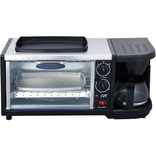 Space saver toaster oven coffee machine fry pan all in one kitchen appliance set #SPT
